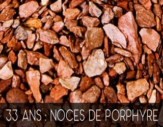 33 Ans De Mariage Noces De Porphyre
